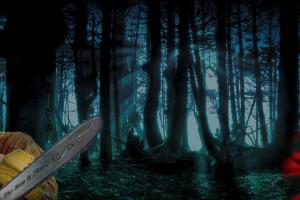 leatherface freddy krueger chainsaws humor pepe (meme) halloween forest ultrawide ultrawide