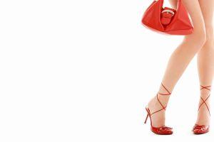 legs high heels handbags simple background white background model women