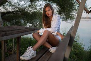 legs olya women outdoors model women dmitry shulgin sitting
