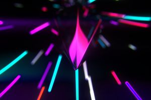light trails neon glow neon dark blurred 3d abstract digital art abstract