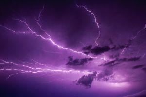 lightning purple nature storm