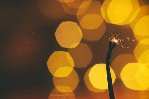 lights macro bokeh moody noise photography matches closeup film grain
