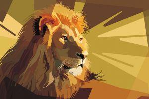 lion lines stripes orange vector
