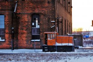 locomotive building winter