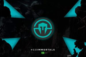logo pc gaming turquise immortals