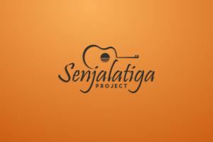 logotype orange background music sunset simple background