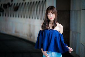 long hair asian women brunette