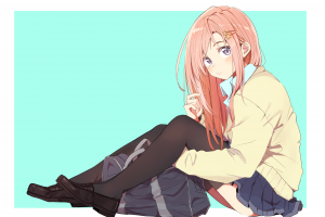 long hair redhead shoes anime girls simple background legs anime