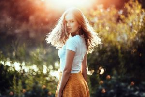 long hair sunlight women outdoors anatoli oskin model women dajana kllogjri