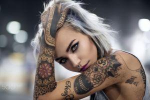 luca foscili 500px fishball suicide model face nose rings women felisja piana hands on head tattoo portrait people