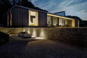luxury homes mansions car house modern garage architecture