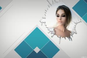 makeup artwork model geometry face women