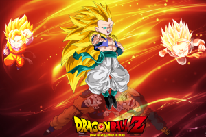 male dragon ball z gotenks son goten animado trunks (character)