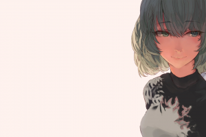manga minimalism anime simple background anime girls short hair