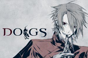 manga simple background anime dogs: bullets & carnage