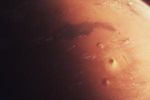 mars desert simple dark space digital art planet