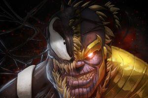 marvel comics symbiote venom artwork thanos spider-man