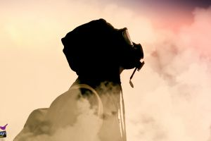 mask smoke gas masks simple background