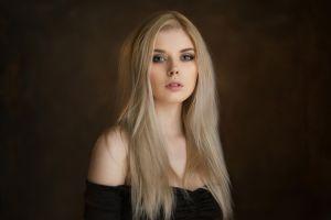 maxim maximov selena werner portrait blonde selena verner women bare shoulders