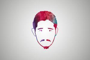 men beards face simple background