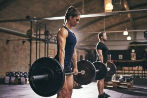 men women weightlifting fitness model muscles