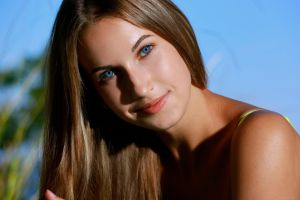 met-art blue eyes shadow milenia looking at viewer model women metart metart magazine brunette