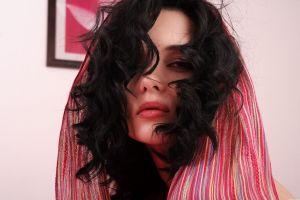 met-art women model dark hair katie fey curly hair metart magazine