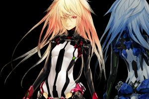 methode (beatless) anime girls blonde anime beatless long hair
