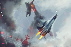 military dogfight artwork military aircraft