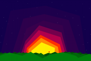 minimalism 8-bit stars pixel art colorful abstract