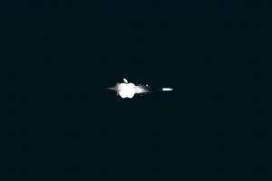 minimalism apples bullet simple background