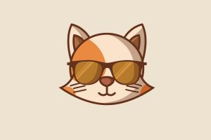 minimalism cats sunglasses