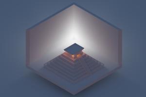 minimalism pyramid isometric blender