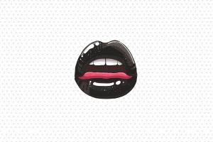 minimalism tongues lips artwork heart
