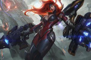 miss fortune (league of legends) fantasy art futuristic league of legends redhead