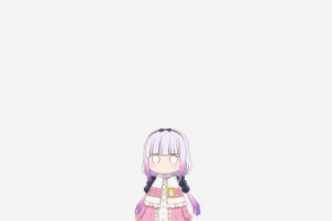 miss kobayashi's dragon maid kanna kamui (kobayashi-san chi no maid dragon) simple background
