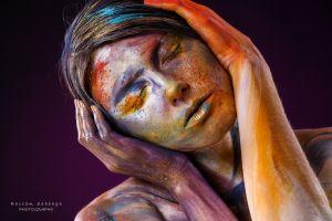 model 500px portrait colorful women face