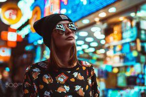 model blonde women depth of field 500px street glasses daria klepikova