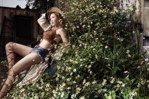 model jean shorts women asian