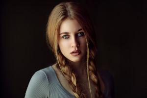 model simple background portrait women