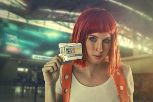 model the fifth element redhead ruben cid cosplay women