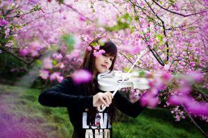 model violin women asian people photography