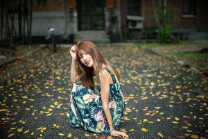 model women outdoors asian women