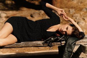 model women outdoors looking at viewer women zuzana gregorova brunette