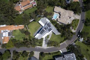 modern aerial house
