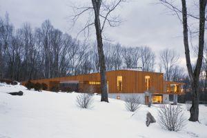 modern snow architecture house
