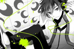 monochrome anime anime boys