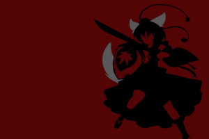 monochrome anime anime girls minimalism manga inubashiri momiji touhou dark background