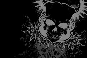 monochrome skull dark vector