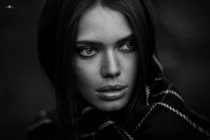 monochrome women portrait face model dmitry arhar